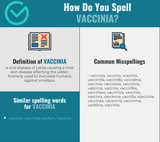 Correct spelling for vaccinia