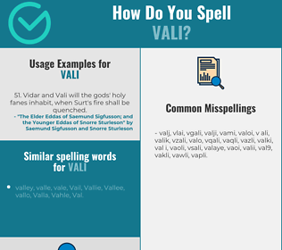 Correct spelling for vali