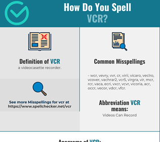 Correct spelling for vcr