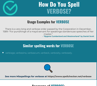 Correct spelling for verbose