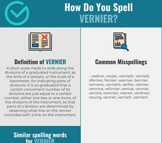 Correct spelling for vernier
