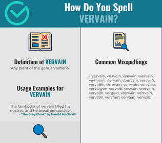 Correct spelling for vervain