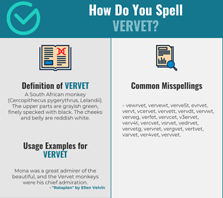Correct spelling for vervet