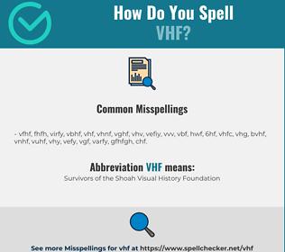 Correct spelling for vhf