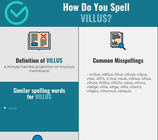 Correct spelling for villus