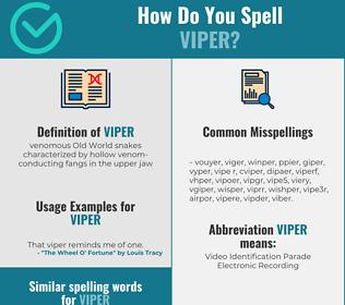 Correct spelling for viper