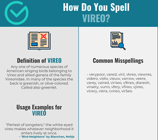 Correct spelling for vireo