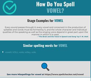 Correct spelling for vowel
