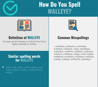 Correct spelling for walleye
