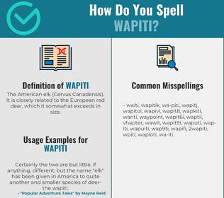 Correct spelling for wapiti