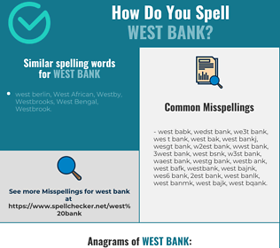 Correct spelling for west bank