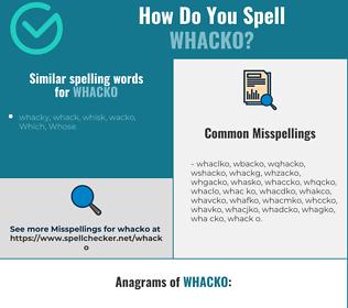 Correct spelling for whacko