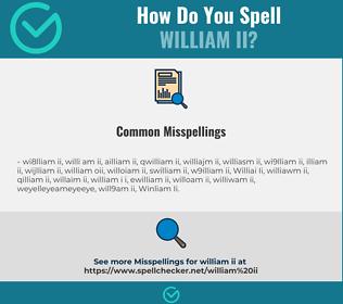 Correct spelling for William Ii
