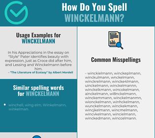 Correct spelling for winckelmann
