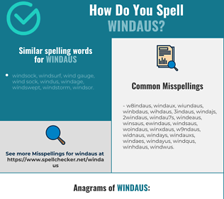 Correct spelling for windaus