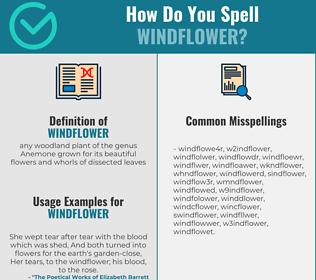 Correct spelling for windflower