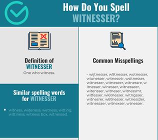 Correct spelling for witnesser