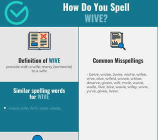 Correct spelling for wive