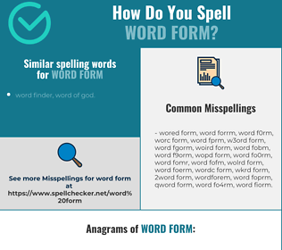 Correct spelling for word form