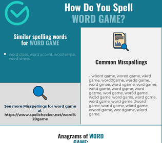 Correct spelling for word game