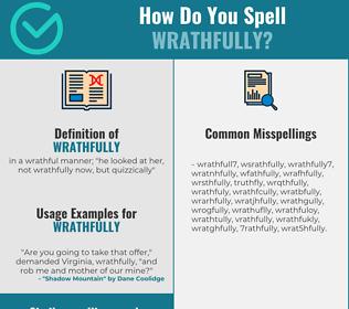 Correct spelling for wrathfully