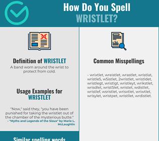 Correct spelling for wristlet