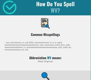 Correct spelling for wv