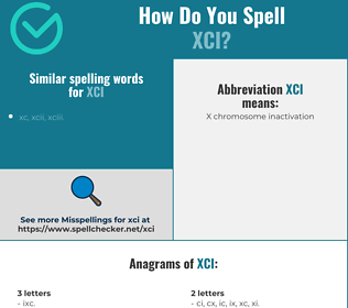 Correct spelling for xci