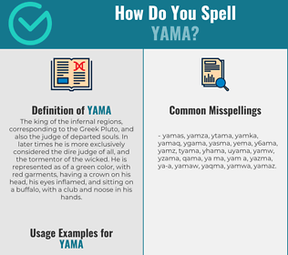 Correct spelling for yama