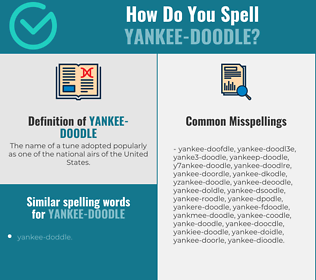 Correct spelling for yankee-doodle