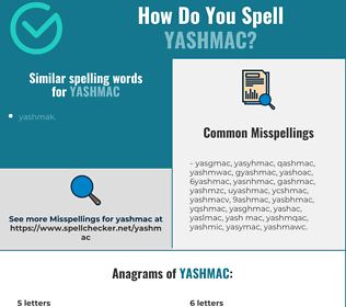 Correct spelling for yashmac