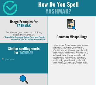 Correct spelling for yashmak