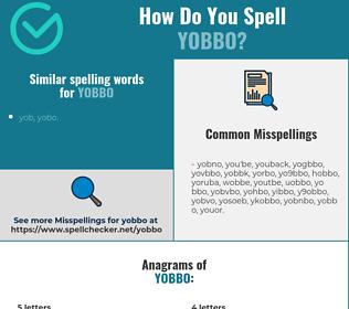 Correct spelling for yobbo