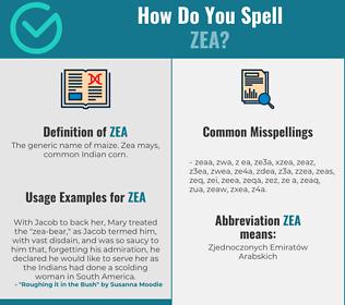 Correct spelling for zea