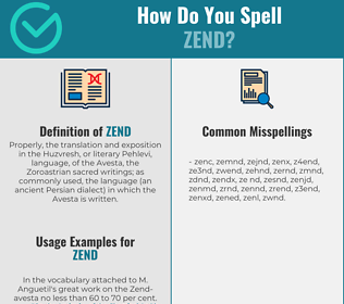 Correct spelling for zend
