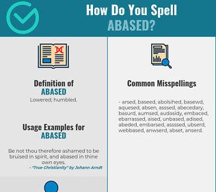 Correct spelling for Abased