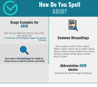 Correct spelling for Abid