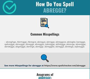 Correct spelling for Abregge