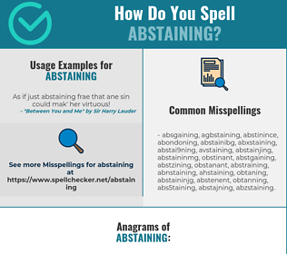 Correct spelling for Abstaining