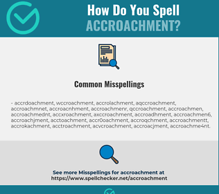 Correct spelling for Accroachment