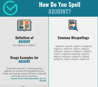Correct spelling for Adjoint