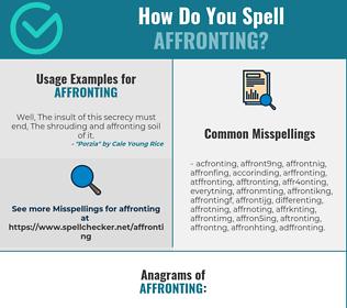 Correct spelling for Affronting