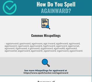 Correct spelling for Againward