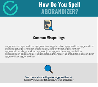 Correct spelling for Aggrandizer