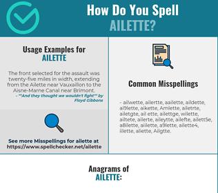 Correct spelling for Ailette