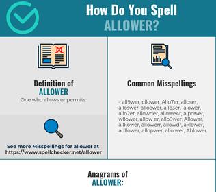 Correct spelling for Allower