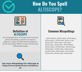 Correct spelling for Altiscope