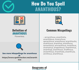 Correct spelling for Ananthous