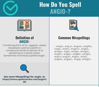 Correct spelling for Angio-