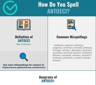 Correct spelling for Antoeci